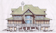 Rendering Bartlett Single Family Residence Daufuskie Island SC