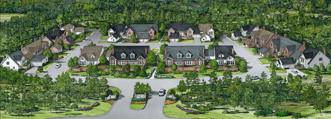 Kings Grant Townhomes Rendering Columbia SC